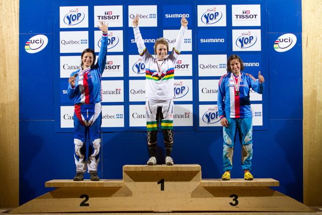 1. Caroline Buchanan, 2. Jana Horáková, 3. Romana Labounková