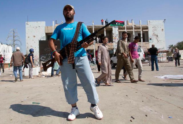 část Kaddáfího komplexu - Bab al Azízija
