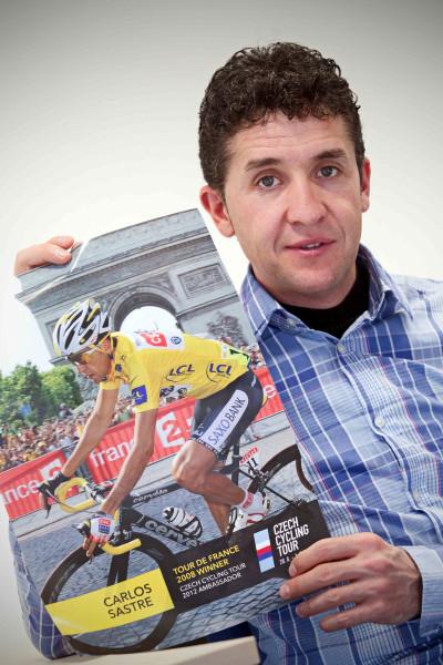 Carlos Sastre v Praze jako ambasador Czech Cycling Tour 2012