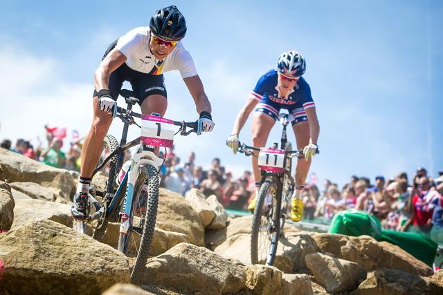 Olympijský souboj Sabine Spitz s Georgii Gould