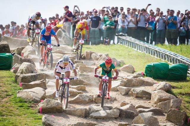 OH 2012 - Jaroslav Kulhavý - V sekdci Rock Garden měl navrch Nino Schurter, Jára si ale vždy dokázal docvaknout
