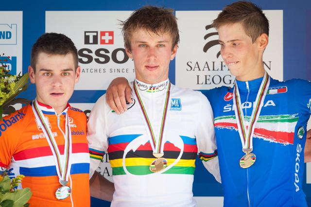 Mistrovství světa horských kol 2012 - 1. Cink, 2. van den Heijden, 3. Braidot