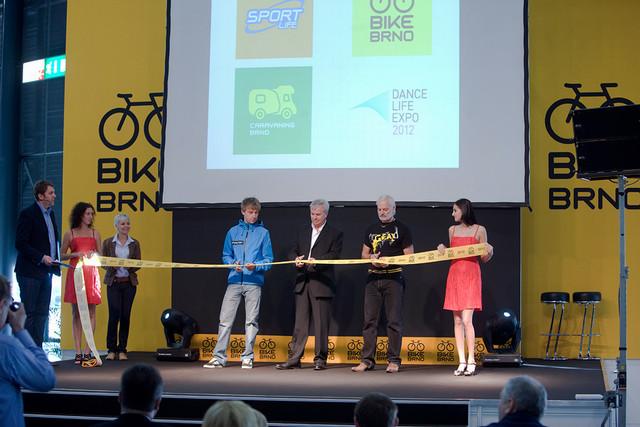 Zahájení veletrhu Bike Brno 2012 - Ondřej Cink, Jiří Kuliš a Karel Stárek