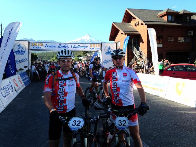 Ota Matoušek a Aleš Kilnar v cíli Trans Andes Challenge 2013