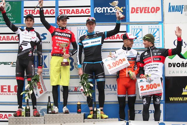 Český pohár MTB XCO 2013 - Teplice - stupně vítězů muži