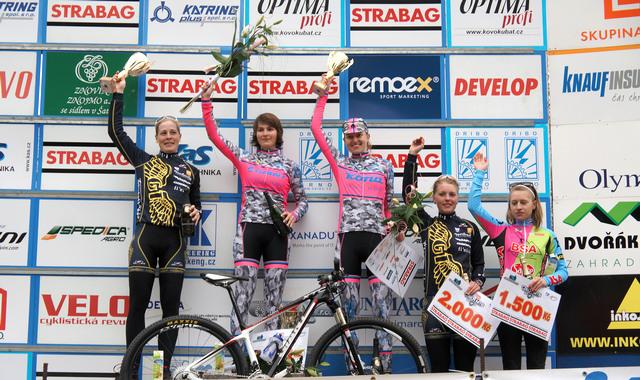 Český pohár MTB XCO 2013 - Teplice - stupně vítězů ženy