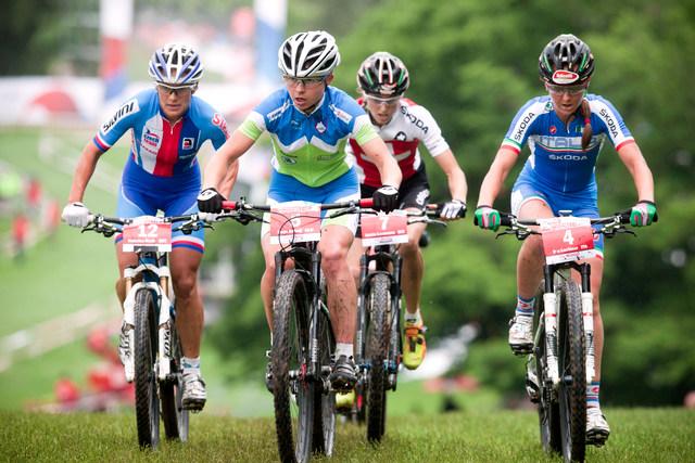 Mistrovství Evropy MTB 2013, Bern - Kateřina Nash, Tanja Zakelj, Katrin Leumann a Eva Lechner