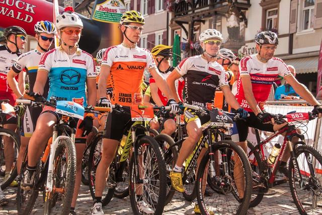 Trans Schwarzwald 2013 - vítězové, zleva Brandau, Mennen a Masters