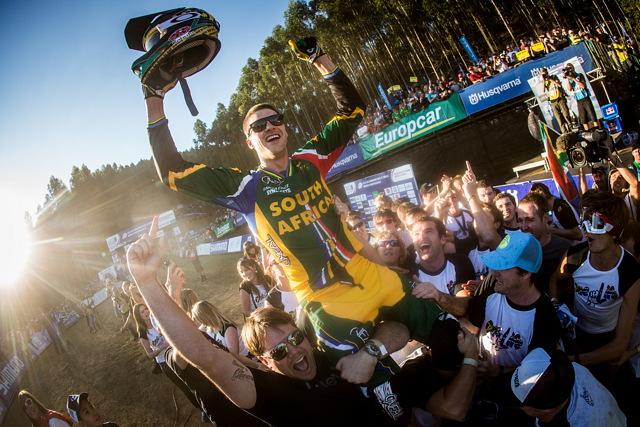 Mistrovství světa MTB 2013, Pietermaritzburg: Greg Minnaar s fanoušky