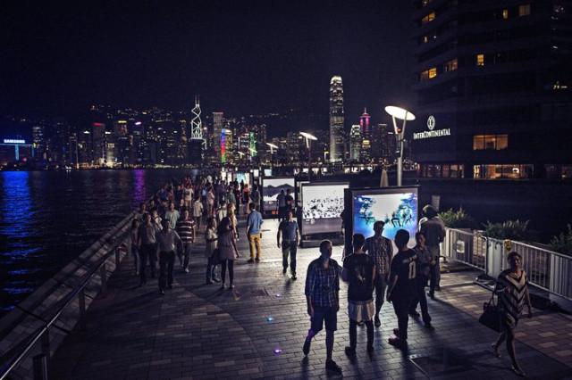Vystavené fotografie Red Bull Illume 2013 v boxech 2x2 metry