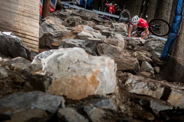 V nové rock garden v Novém Městě na Moravě se pádu nevyhnul ani Jaroslav Kulhavý