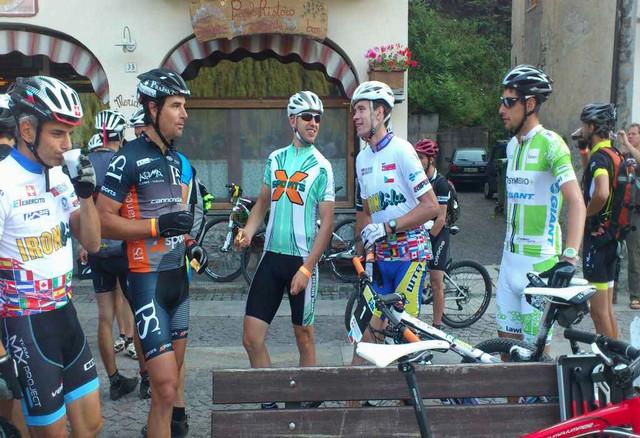 Iron Bike 2013: čeští účastníci letošního ročníku, zleva Radek Šíbl, Ondřej Fojtík, Tomáš Bek a Jan Fojtík