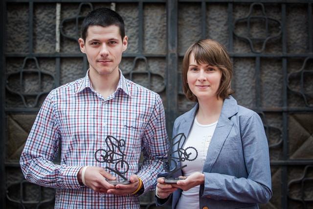 Jitka Škarnitzlová a Jiří Fikejz - vítězové Specialized Enduro Série 2013