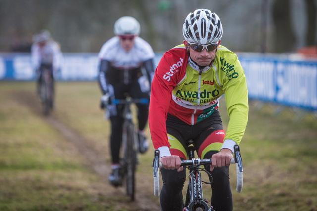 Radek Šimůnek trénuje v Hoogerheide na trati MS v cyklokrosu 2014