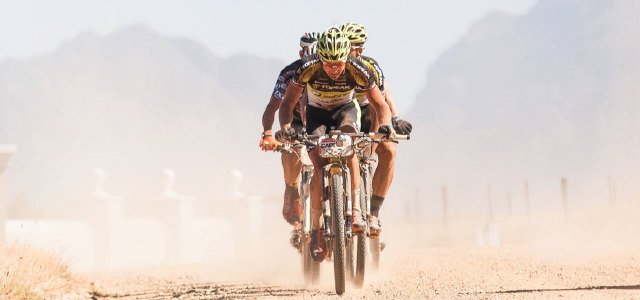 Back in the business! Kristián s Albanem po 1. etapě Cape Epic druzí
