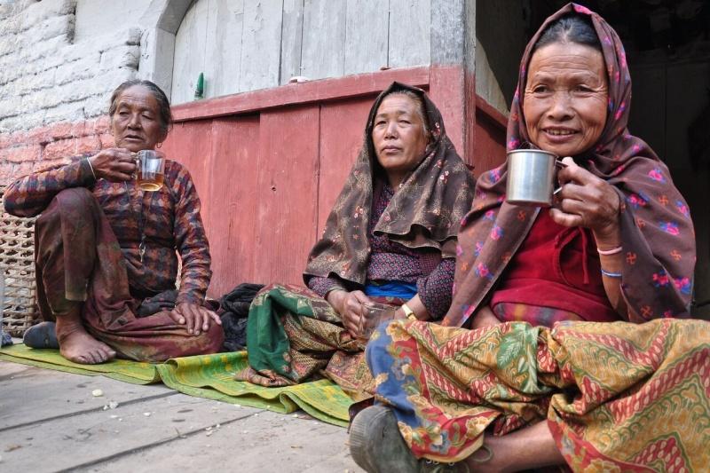 Přátelští obyvatelé vesničky Zhong