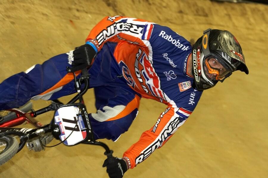 UCI BMX Supercross - Madrid 9.2. 2008 - Robert de Wilde, vítěz závodu BMX SX v Pekingu