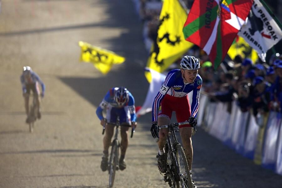 MS Cyklokros 2008, Treviso - Itálie 26.1. - závěrečný spurt juniorů