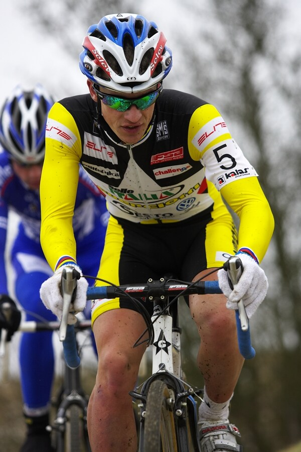 Mistrovství ČR cyklokros, Mnichovo Hradiště 5.1. 2008 - Lukáš Klouček