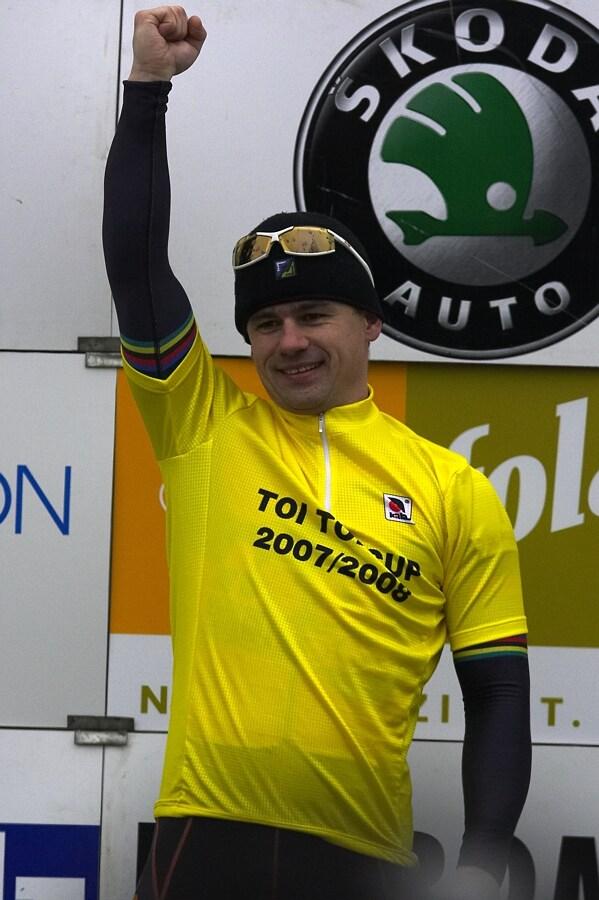 Mistrovstv� �R cyklokros, Mnichovo Hradi�t� 5.1. 2008 - Zden�k Mlyn��, v�t�z TOI TOI Cupu 2008