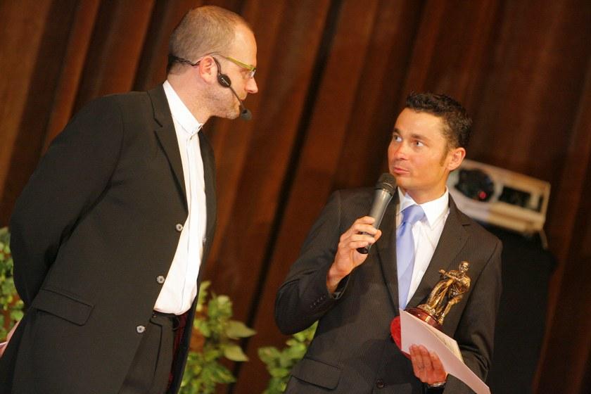 Kr�l cyklistiky - Kongresov� centrum Praha, 7.12. 2007 - tradi�n� oce�ovan� a vynikaj�c� r�torik Ji�� Je�ek
