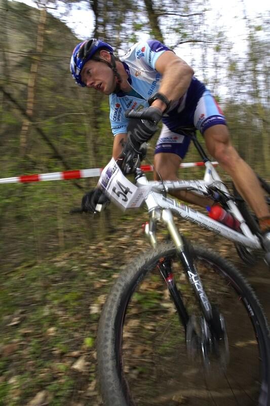 ČP XC #1 Pardubice 2008 - Tomáš Trunschka na novém celoodpruženém Supu