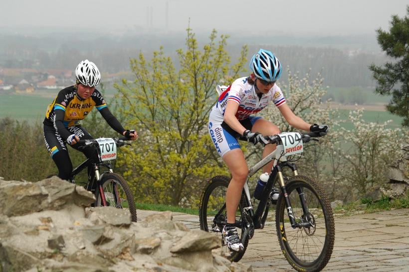 ČP XC #1 Pardubice 2008 - Jitka Škarnitzlová a Alla Boyko