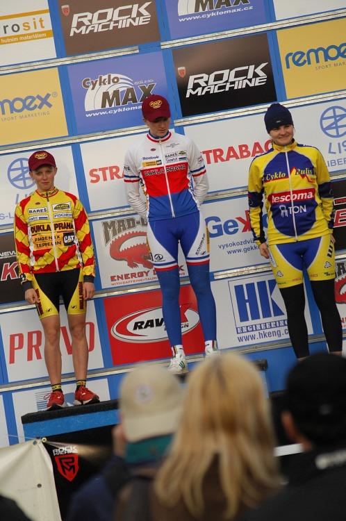 ČP XC #1 Pardubice 2008 - kadetky (1. Labáková, 2. Kuntová, 3. Svačinová