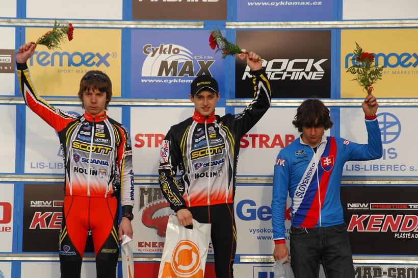 ČP XC #1 Pardubice 2008 - Kadeti (1. Paprstka, 2. Veselý, 3. Hula)