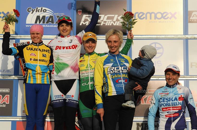 ČP XC #1 Pardubice 2008 - ženy: 1. Huříková, 2. Krompets, 3. Havlíková