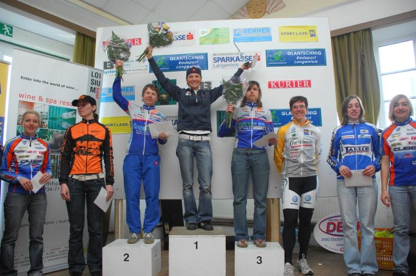 XC C1 Langenlois 08 - ženy: 1. Osl, 2. Zakelj, 3. Homovec