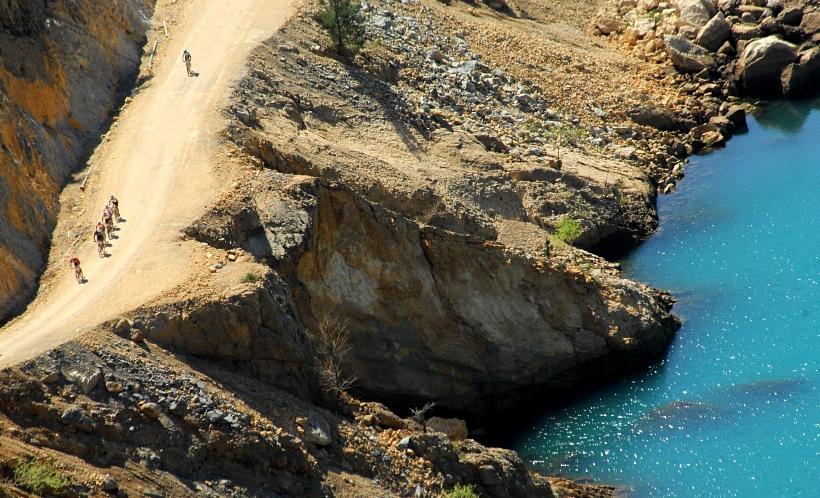 SP XCM #1 Manavgat 2008 - začíná 13ti kilometrové stoupání