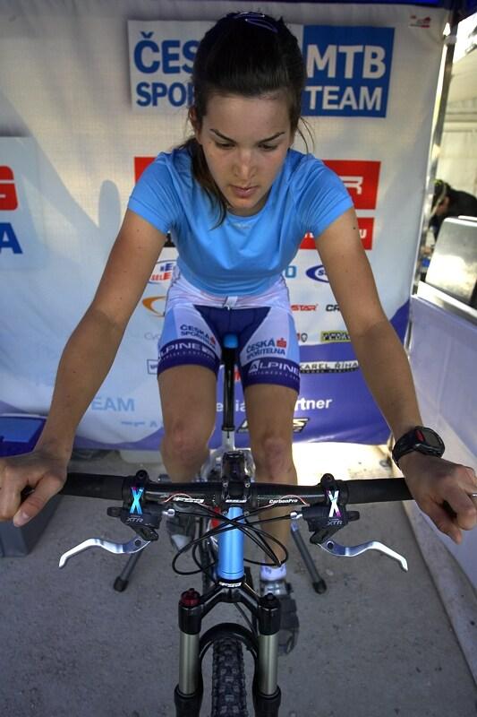 Nissan UCI MTB World Cup XC #3 - Madrid 4.5.'08 - Tereza Huříková při rozjíždění