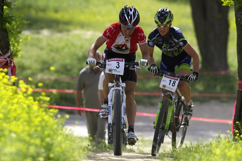 "Nissan UCI MTB World Cup XC #3 - Madrid 4.5.'08 - 3 km do cíle, Premont ""natahuje"" Dahle"