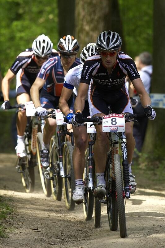 Nissan UCI MTB World Cup XC #2 - Offenburg 27.4.2008 - Roel Paulissen dlouho v čele nevydržel, Cape Epic zřejmě nejen jemu vzal hodně sil, skončil na 32. místě