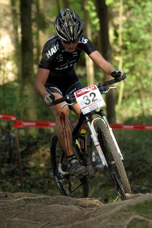 SP XC #2 2008 Offenburg - Aleksandra Dawidowicz někde zřejmě chybovala