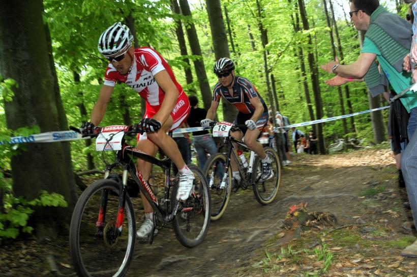 SP XC #2 2008 Offenburg - Sauser a Vogel bojují o druhé místo