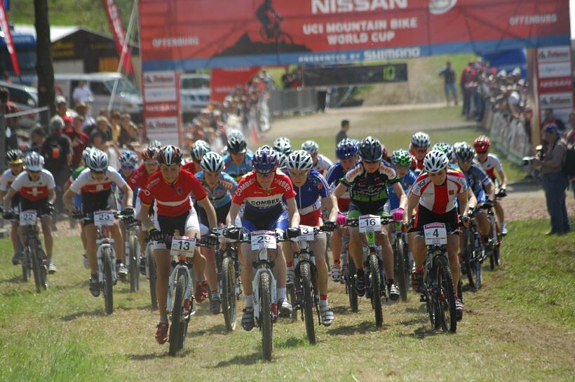 SP XC #2 2008 Offenburg - junioři - start juniorek