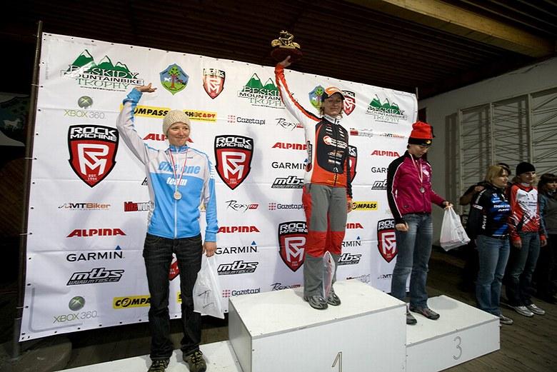 Beskidy MTB Trophy - Istebna, 1 etapa 22.5. 2008 - Alena Krňáčová byla nejrychlejší ženou, foto: Pawel/Magazin Rowerowy