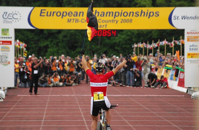ME XC 2008 St. Wendel - ženy Elite: Sabine Spitz vítězí