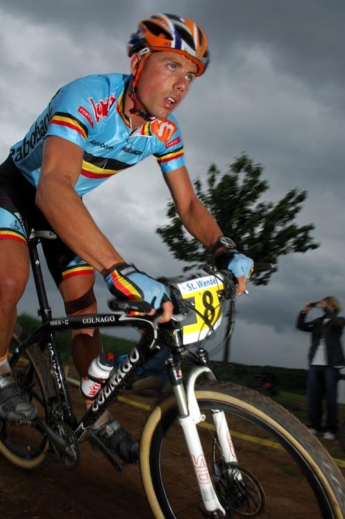 ME XC 2008 St. Wendel - muži Elite: cyklokrosař Sven Nijs