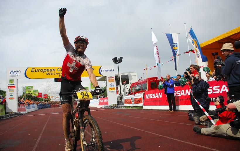 ME XC 2008 St. Wendel - mu�i Elite: Florian Vogel mistrem Evropy