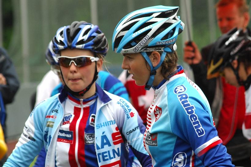 ME XC 2008, St. Wendel - juniorky: Vale�ov� a �karnitzlov� p�ed startem