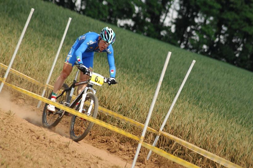 Mistrovství Evropy 2008 St. Wendel (GER) - štafety - Ital Cristian Cominelli