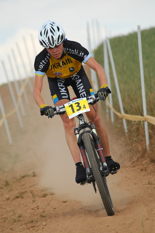 Mistrovství Evropy 2008 St. Wendel (GER) - štafety - Ukrajinka Natalyia Krompets