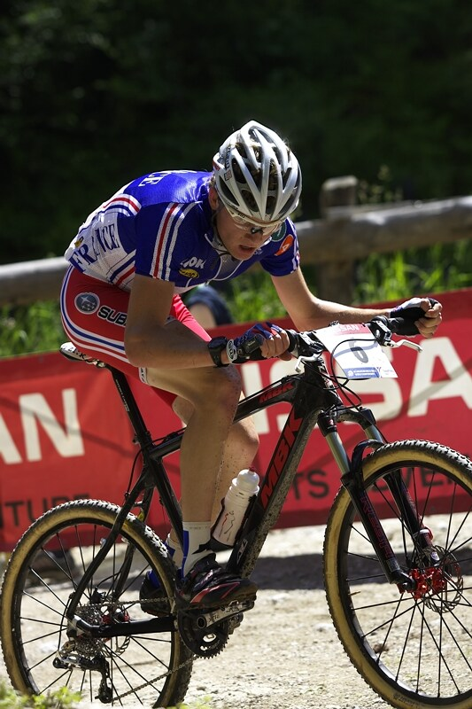 UCI MTB Wolrd Championship 2008 - Val di Sole/ITA - 19.6. - st��brn� Francouz Arnaud Jouffroy