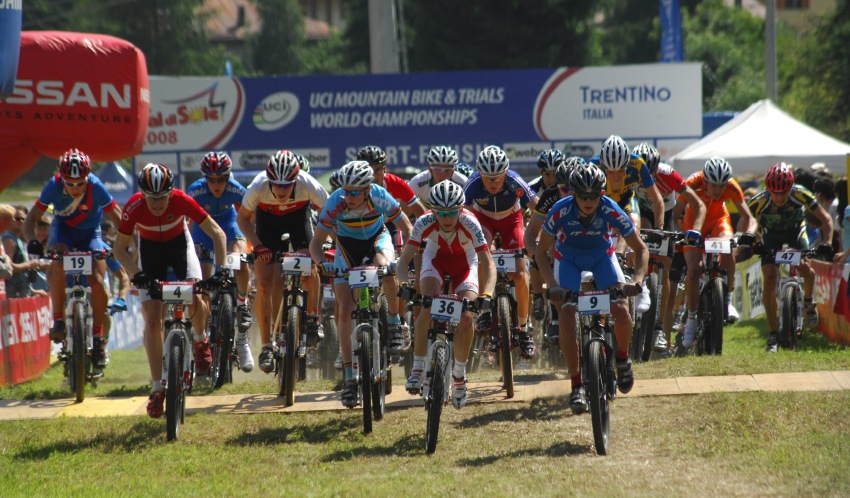MS MTB 08 Val di Sole - XC junioři: start