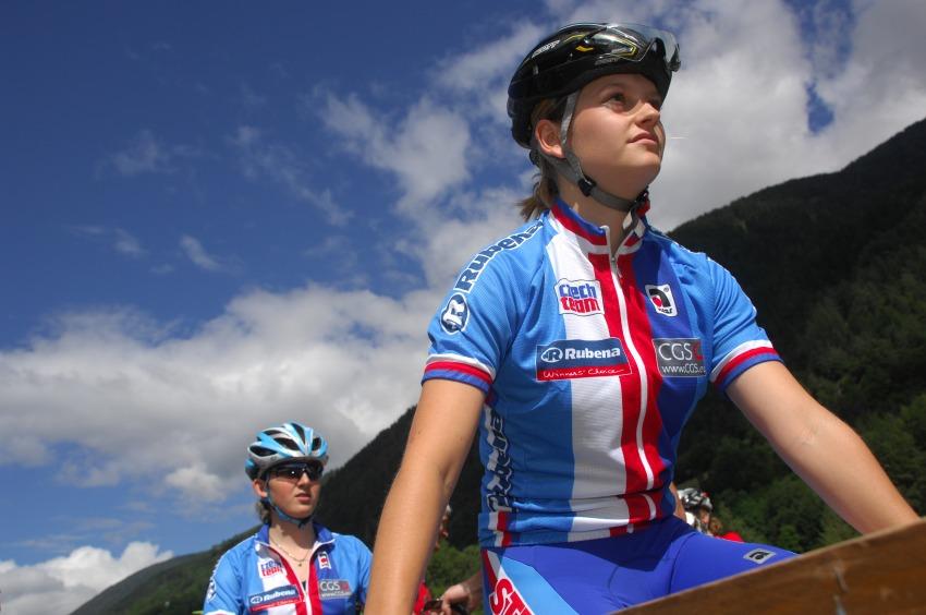 MS MTB 2008 Val di Sole: XC juniorky: Markéta Sládková a Jitka Škarnitzlová