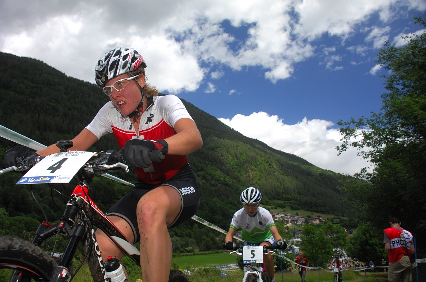 MS MTB 2008 Val di Sole - ženy U23: Nathalie Schneitter na čele