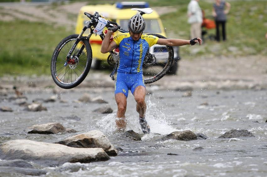 Giant Berounský BikeMaraton 2008: Jan Hruška těsně před cílem